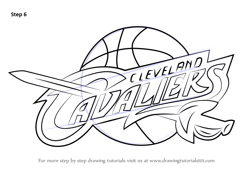 843x596 Learn How To Draw Cleveland Cavaliers Logo (Nba) Step By Step
