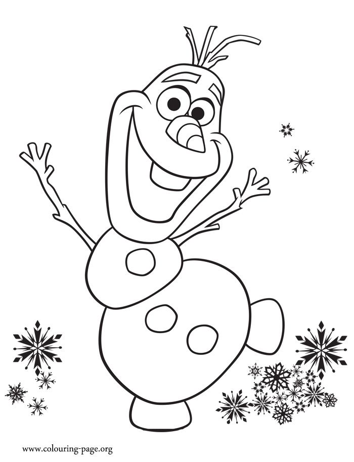 700x914 Look! Olaf Is Excited With Anna's Birthday Party. Print And Color