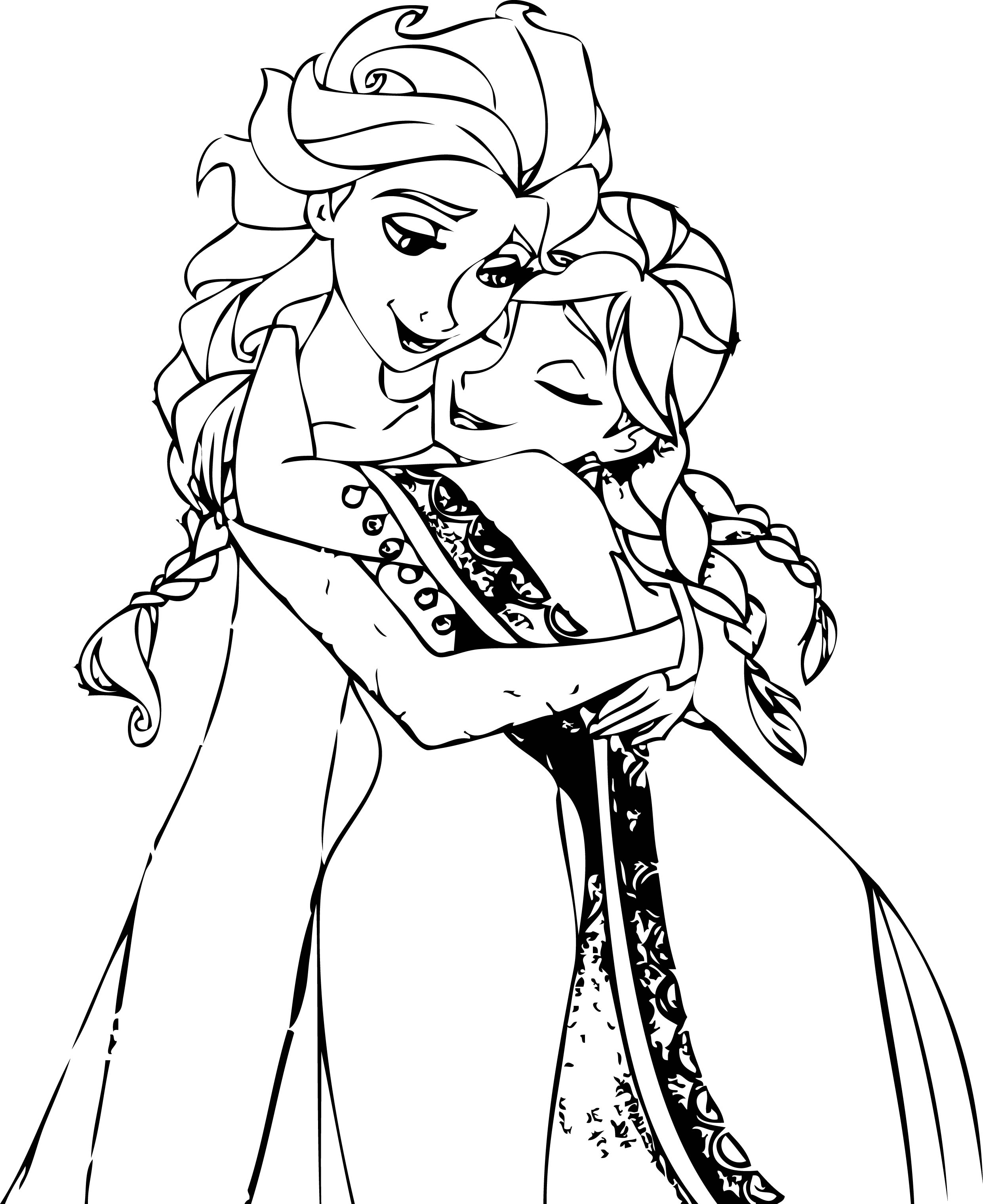 2482x3038 Coloring Pages Disney Frozen Cartoon Elsa And Anna Printable For