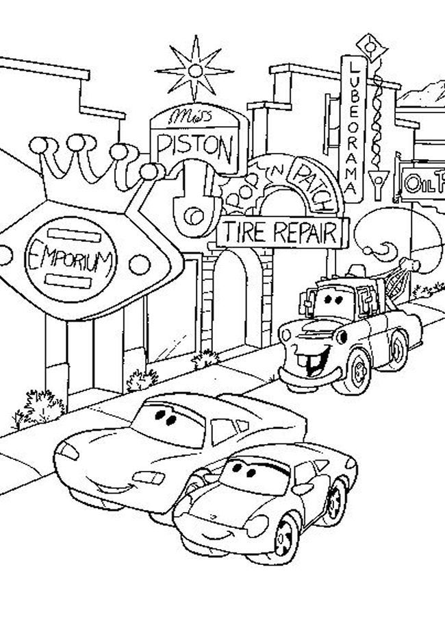 Disney Pixar Cars Drawing At GetDrawings