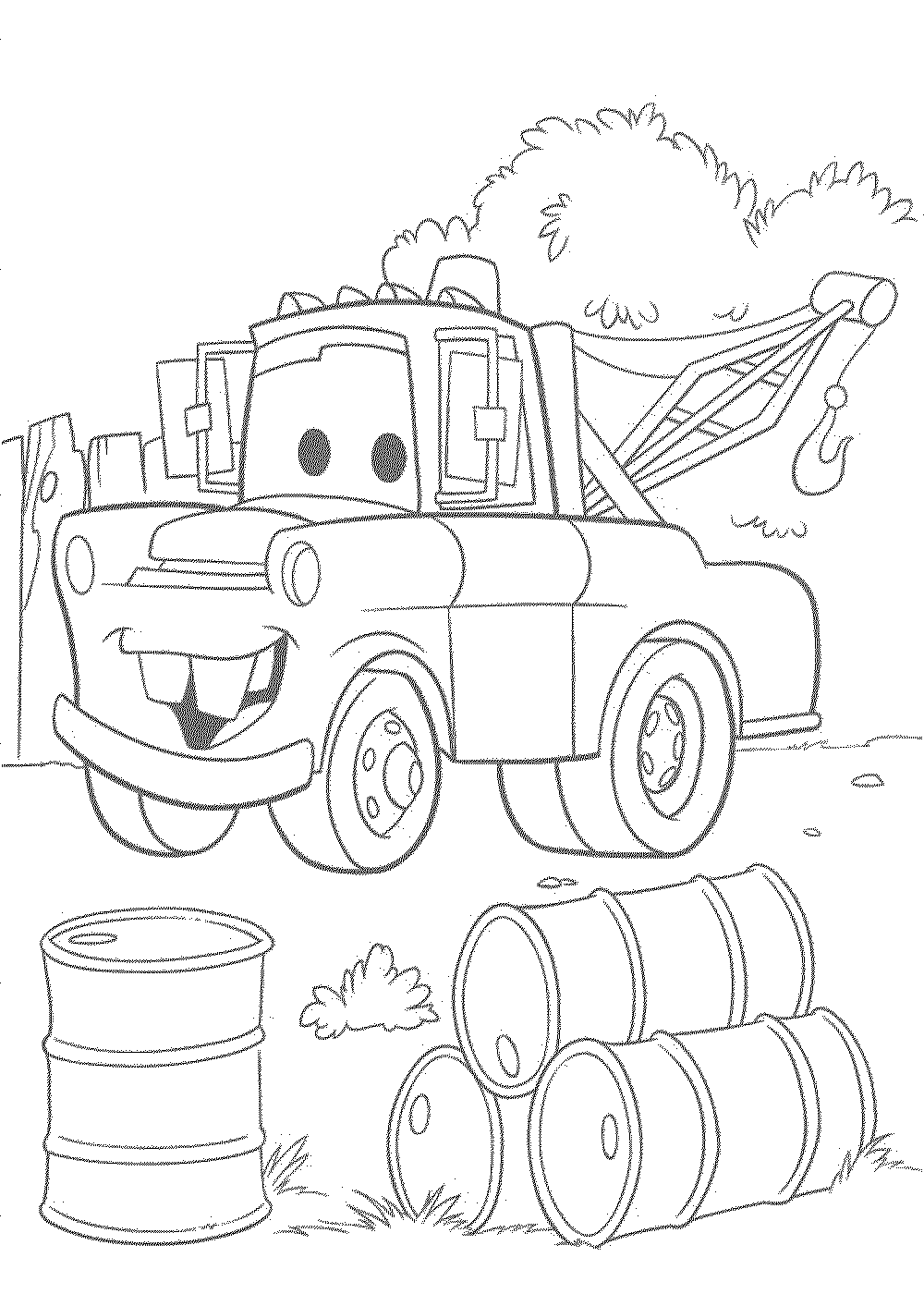 1000x1400 Disney Pixar Cars Coloring Pages