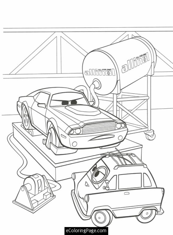 566x768 Cars 2 Printable Coloring Pages Cars 2, Professor Z And Rod