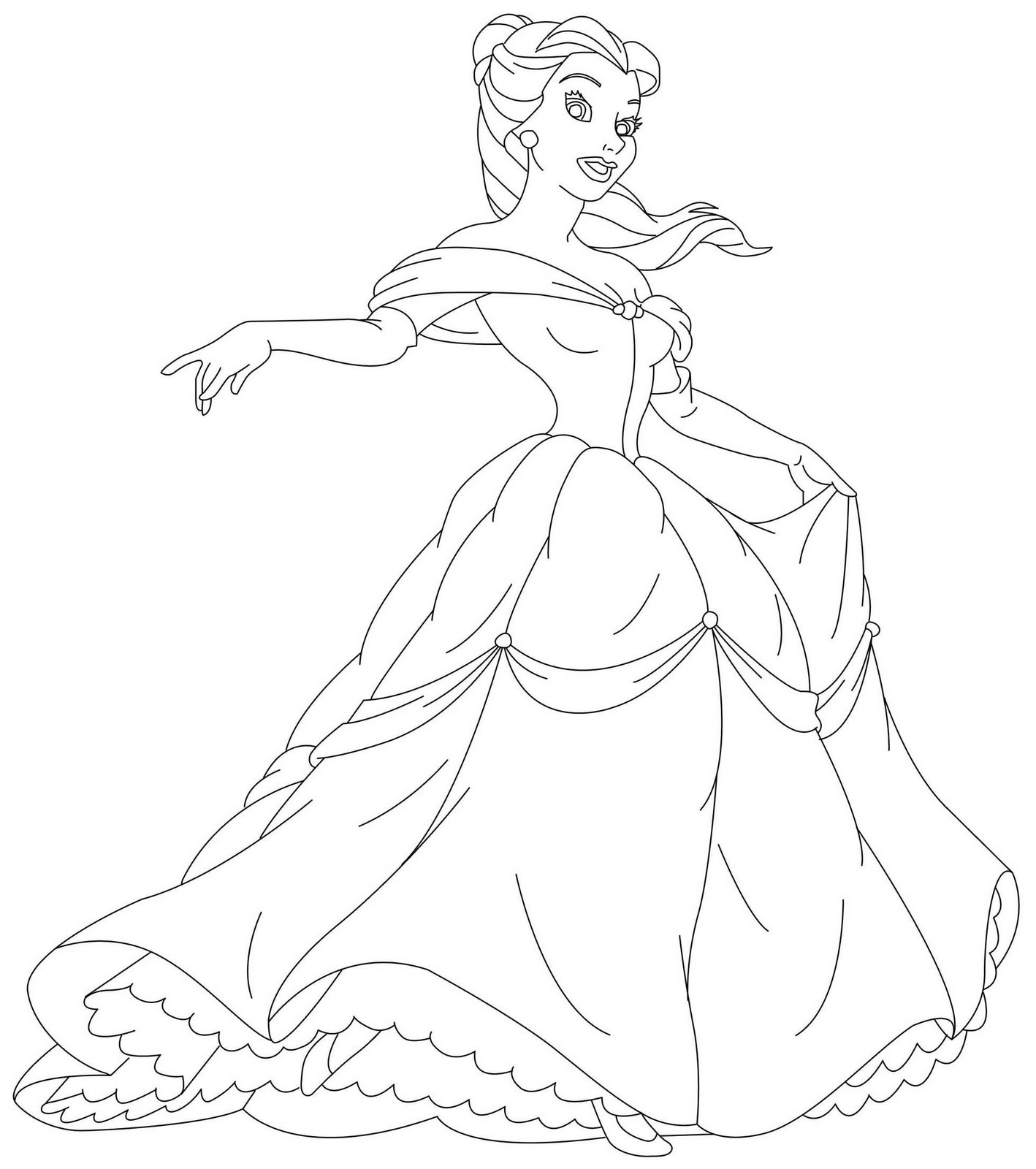 1418x1600 Disney Princess Belle Coloring Pages Free Coloring Pages For Kids