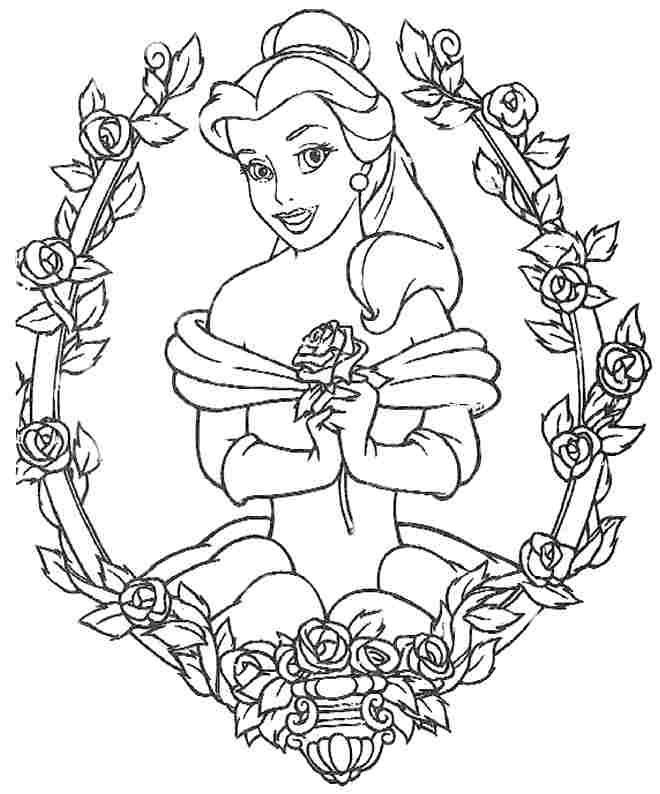 660x794 Disney Princess Belle Coloring Pages For Girls World Of Example