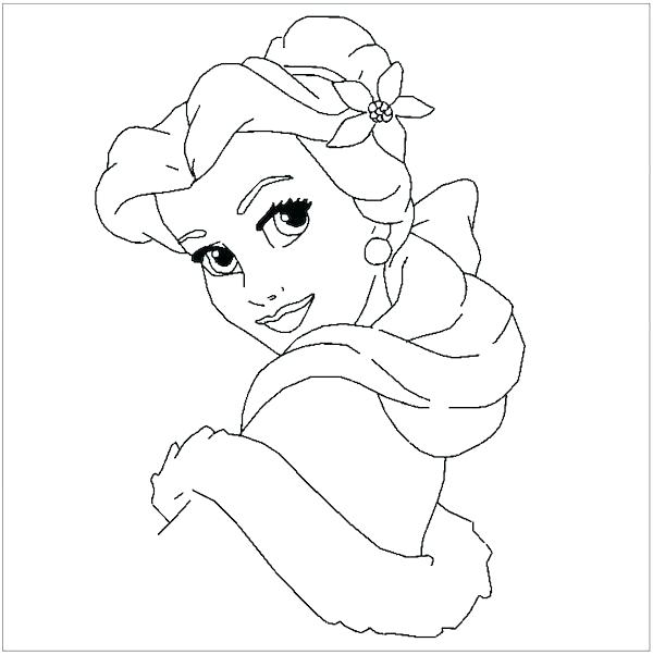 600x602 Coloring Pages Belle Belle Coloring Pages Belle Coloring Page