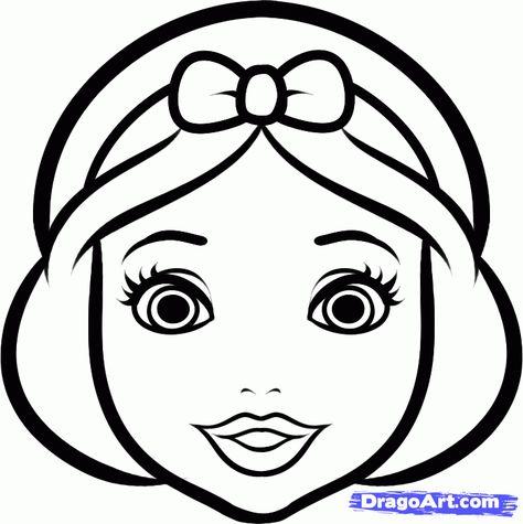 474x475 How To Draw Snow White Easy, Step By Step, Disney Princesses