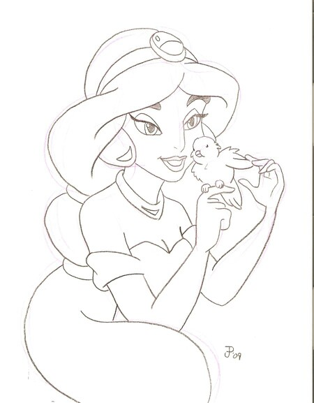 450x577 Jasmine Disney Line Drawings Jasmine, Drawings