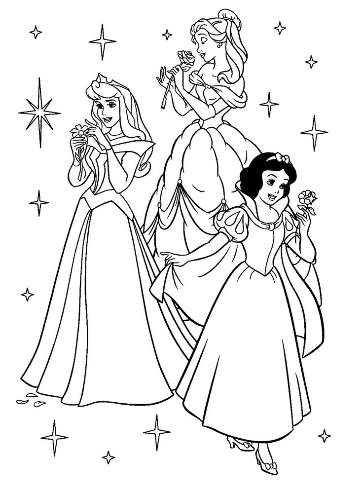 736x997 Princess Of Disney Coloring Pages In Pretty Print Draw Princesses