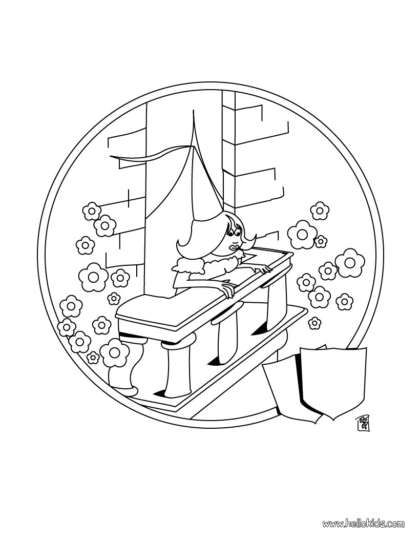 820x1060 princess in the castle coloring pages