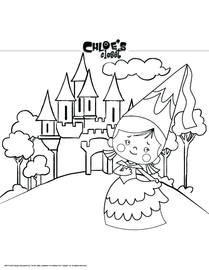 728x941 Castle Color Page As Coloring Pages Disney Princess