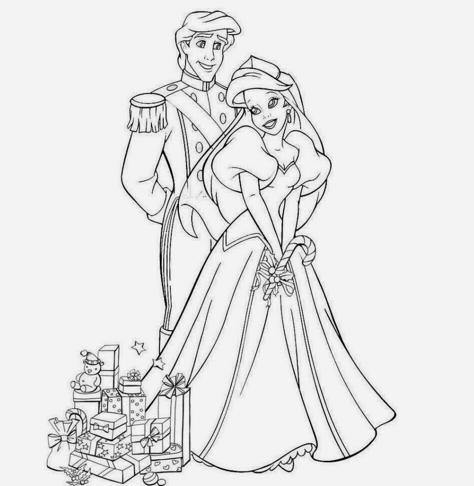 943x967 Prince And Princess Pencil Sketch Drawing