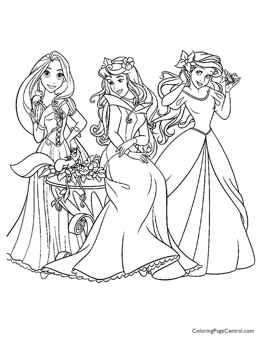 850x1100 Disney Princesses 10 Coloring Page Coloring Page Central