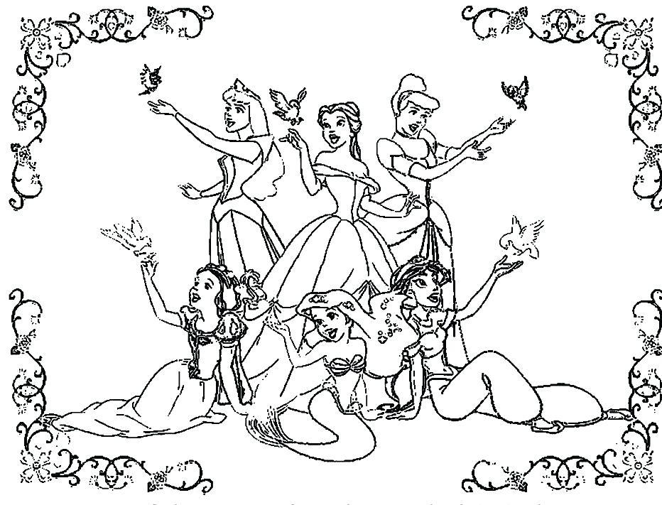 Disney Princesses Drawing at GetDrawings.com | Free for personal use ...