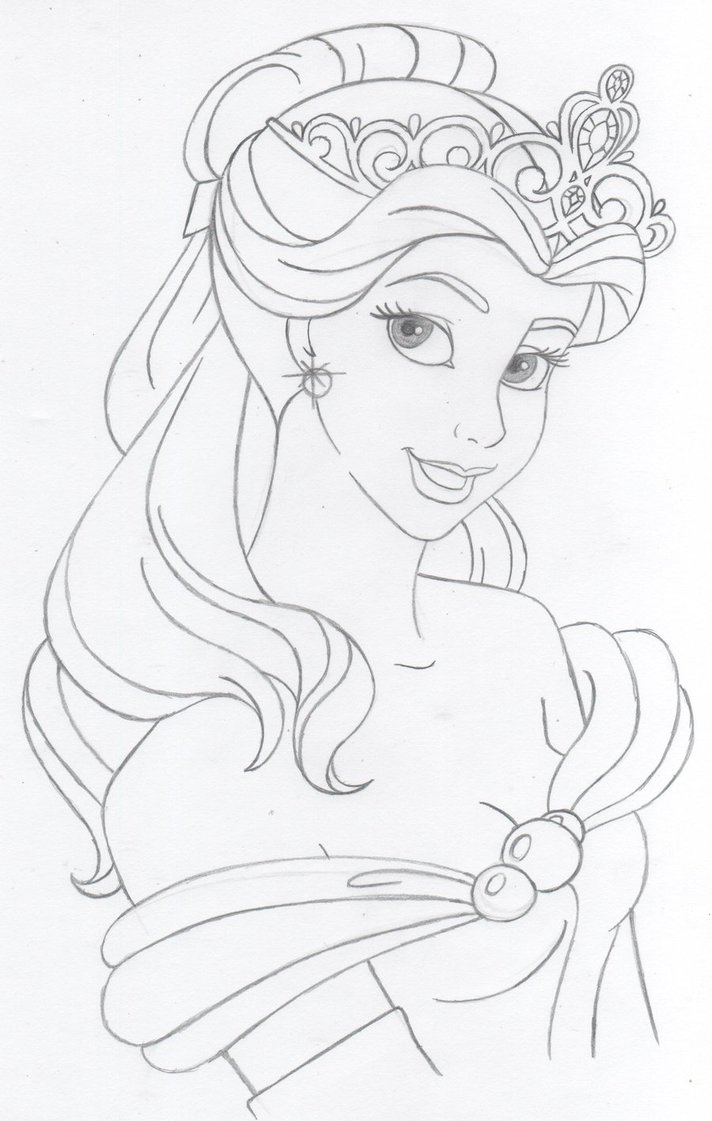 712x1121 Disney's Belle By Katebushfanatic On Disney Coloring