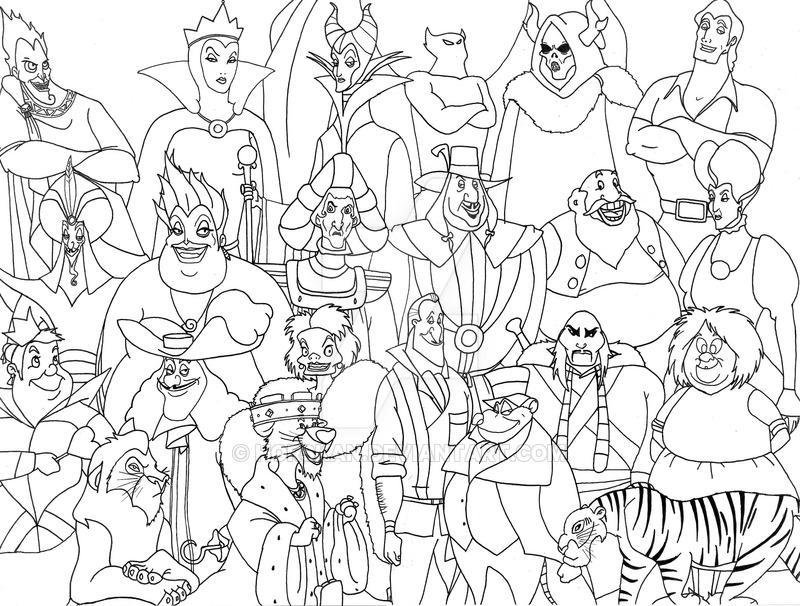 Disney Villains Drawing at GetDrawings.com | Free for personal use ...