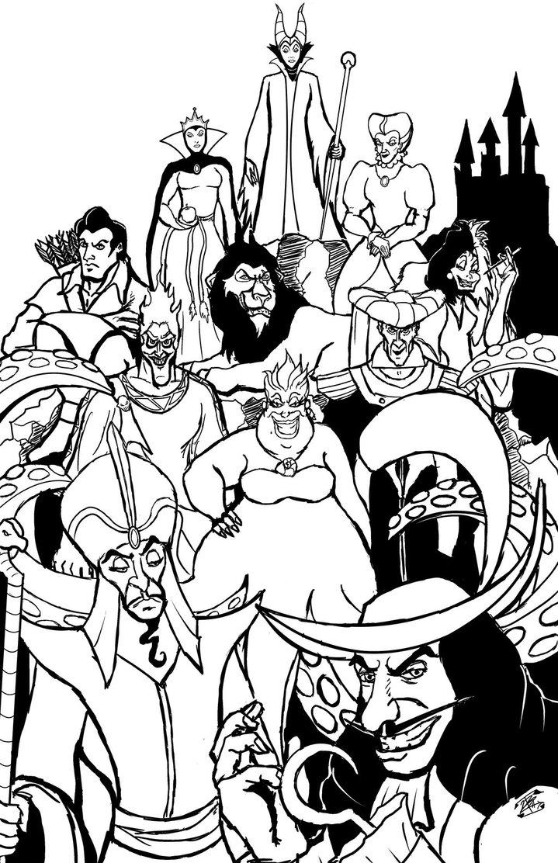 Disney Villains Drawing at GetDrawings | Free download