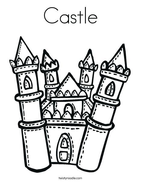 Disney World Castle Drawing
