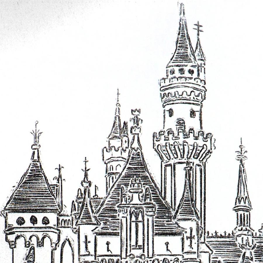 900x900 Disney World Castle Drawing