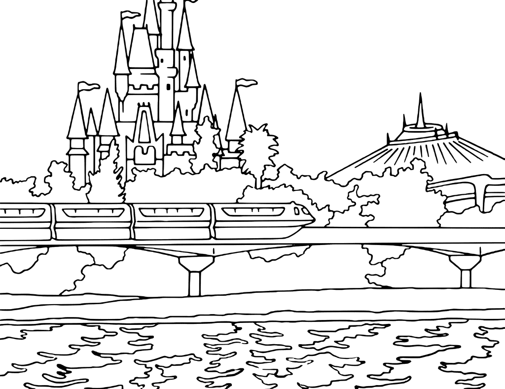 1024x789 Disney World Coloring Pages