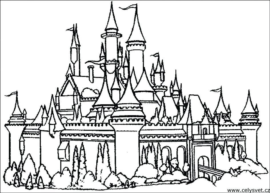 945x675 Castle Color Page