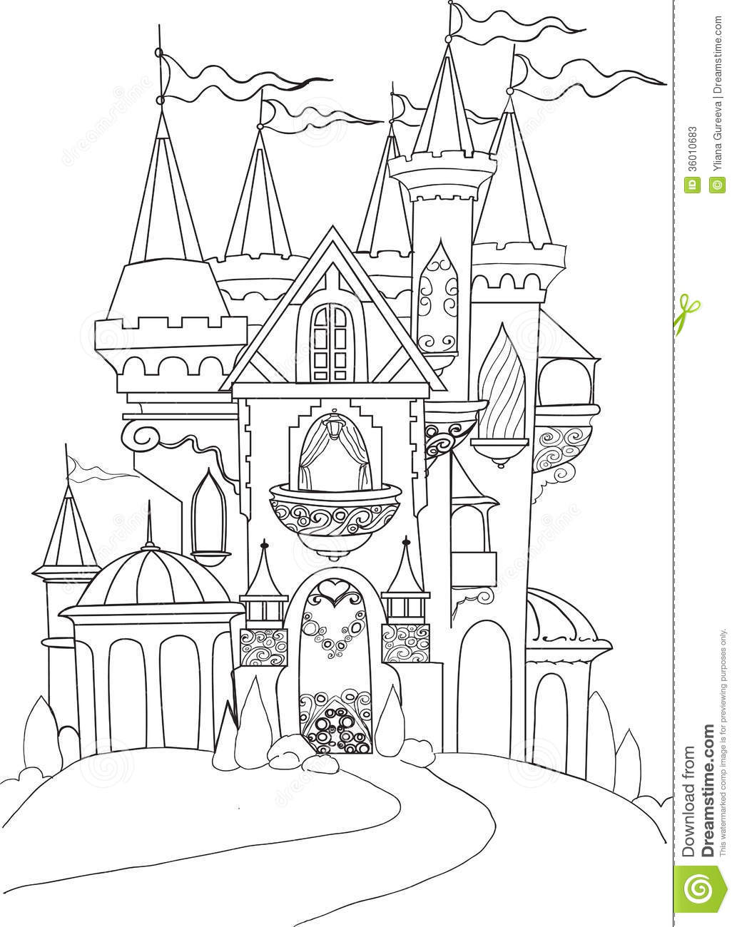 Disney World Castle Drawing at GetDrawings.com | Free for personal ...