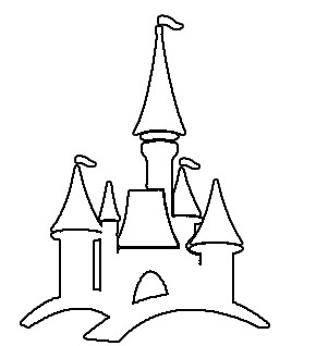 301x318 Drawn Palace Disneyland Castle