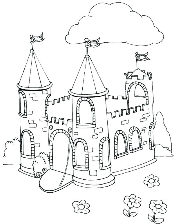 600x773 Top Rated Castle Coloring Page Images Explore Beautiful Castle