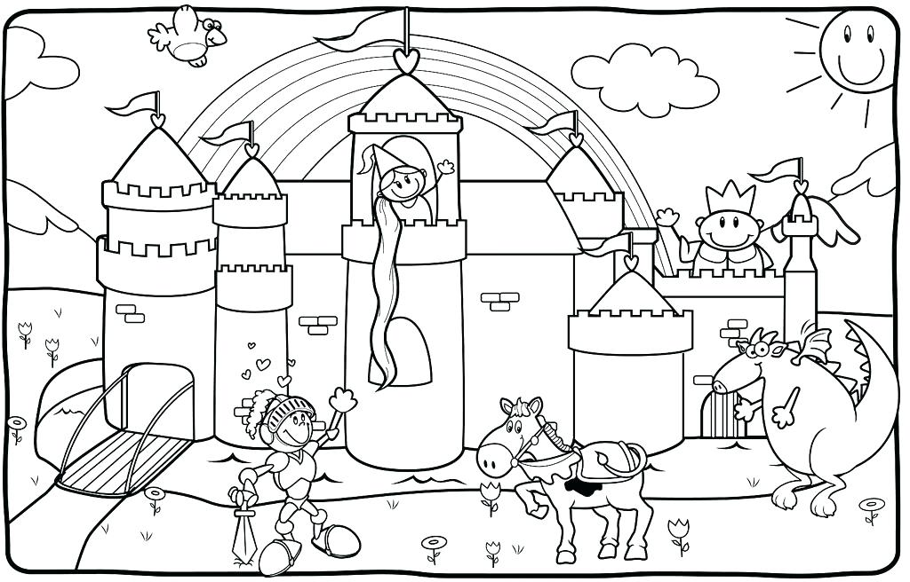 1024x656 Castle Coloring Page Day Haunted Castle On Day Coloring Page
