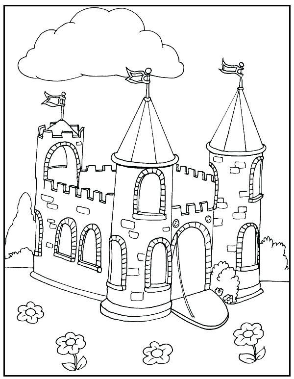 600x773 Cinderella Castle Coloring Pages Castle Coloring Page Disney