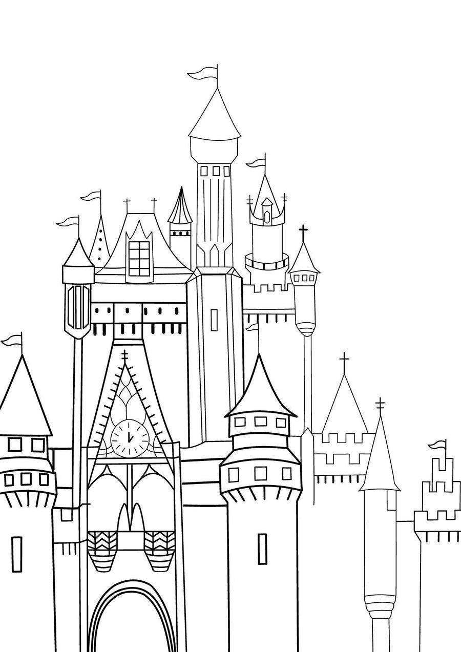 900x1273 Disney Castle Sketch By Rini2jessie