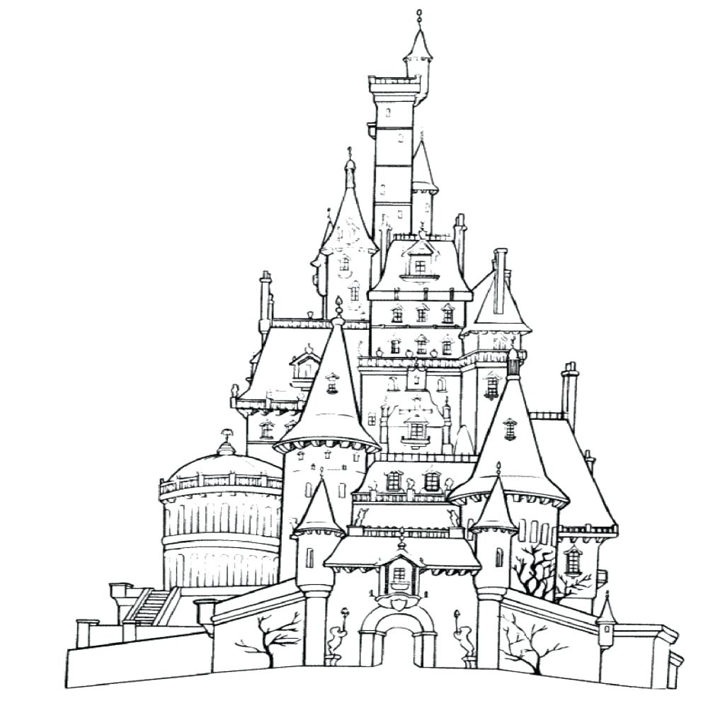 Disneyland Castle Drawing at GetDrawings.com | Free for personal use ...