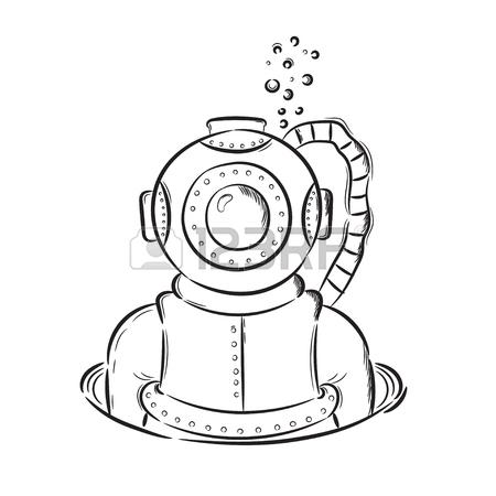 Divers Helmet Drawing