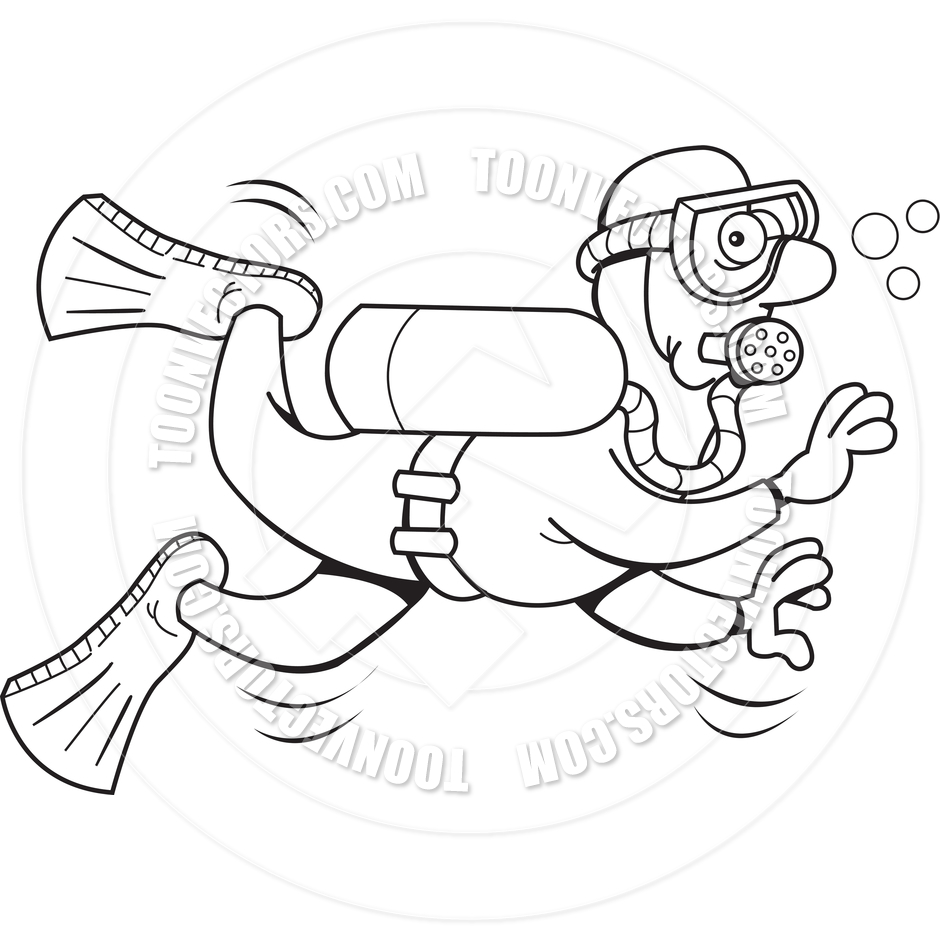 940x940 Scuba Diving Clipart Black And White