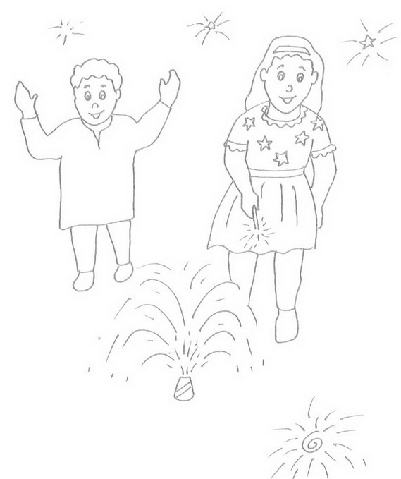 569x679 Diwali Colouring Pages