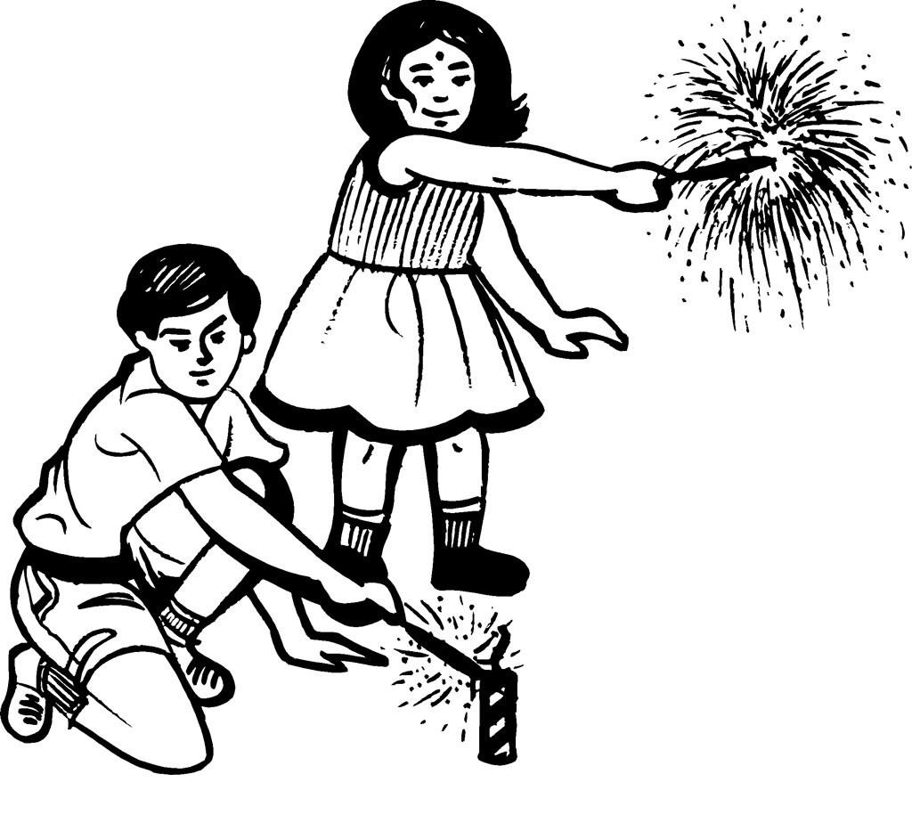 1024x924 Diwali Craft, Clipart, Sketch, Drawing, Printable Card Amp Coloring