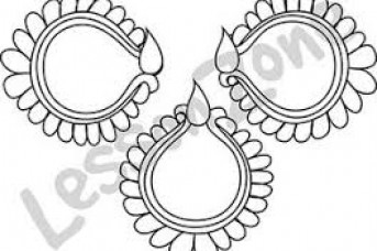 343x228 Diwali Diya Outline Images