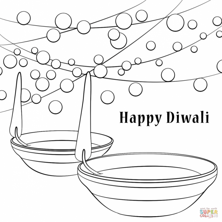 728x728 Adult ~ Happy Diwali Coloring Pages Images Pictures Printable