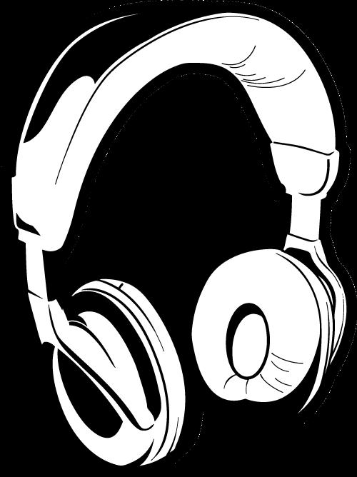 500x668 Headphones Drawing Dj Clipart