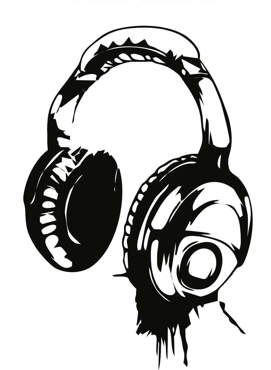 950x1294 Headphones Music Dj Wall Stickers Art Design Wall Decal Available
