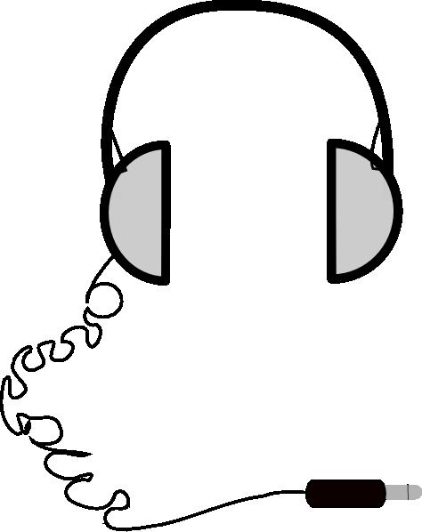 474x598 Headphones Simple Clip Art