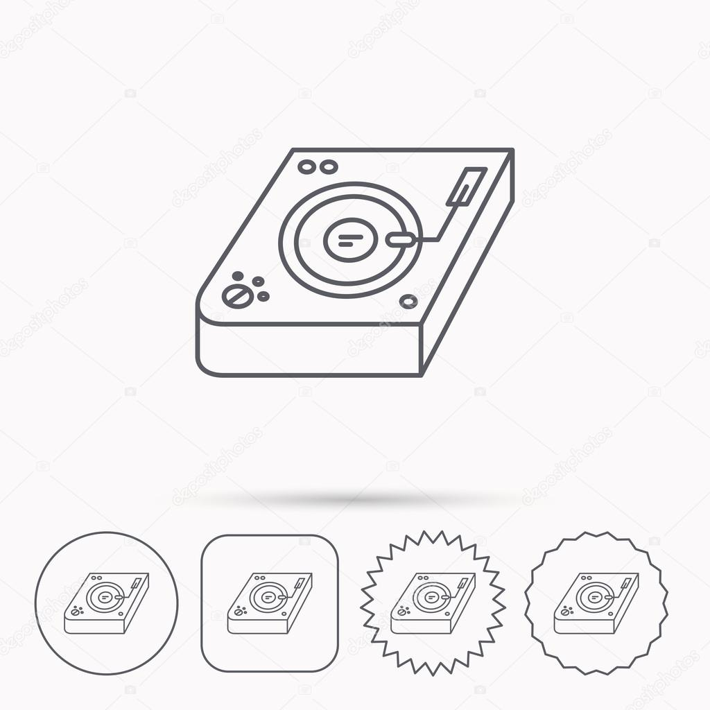 1024x1024 Club Music Icon. Dj Track Mixer Sign. Stock Vector Tanyastock