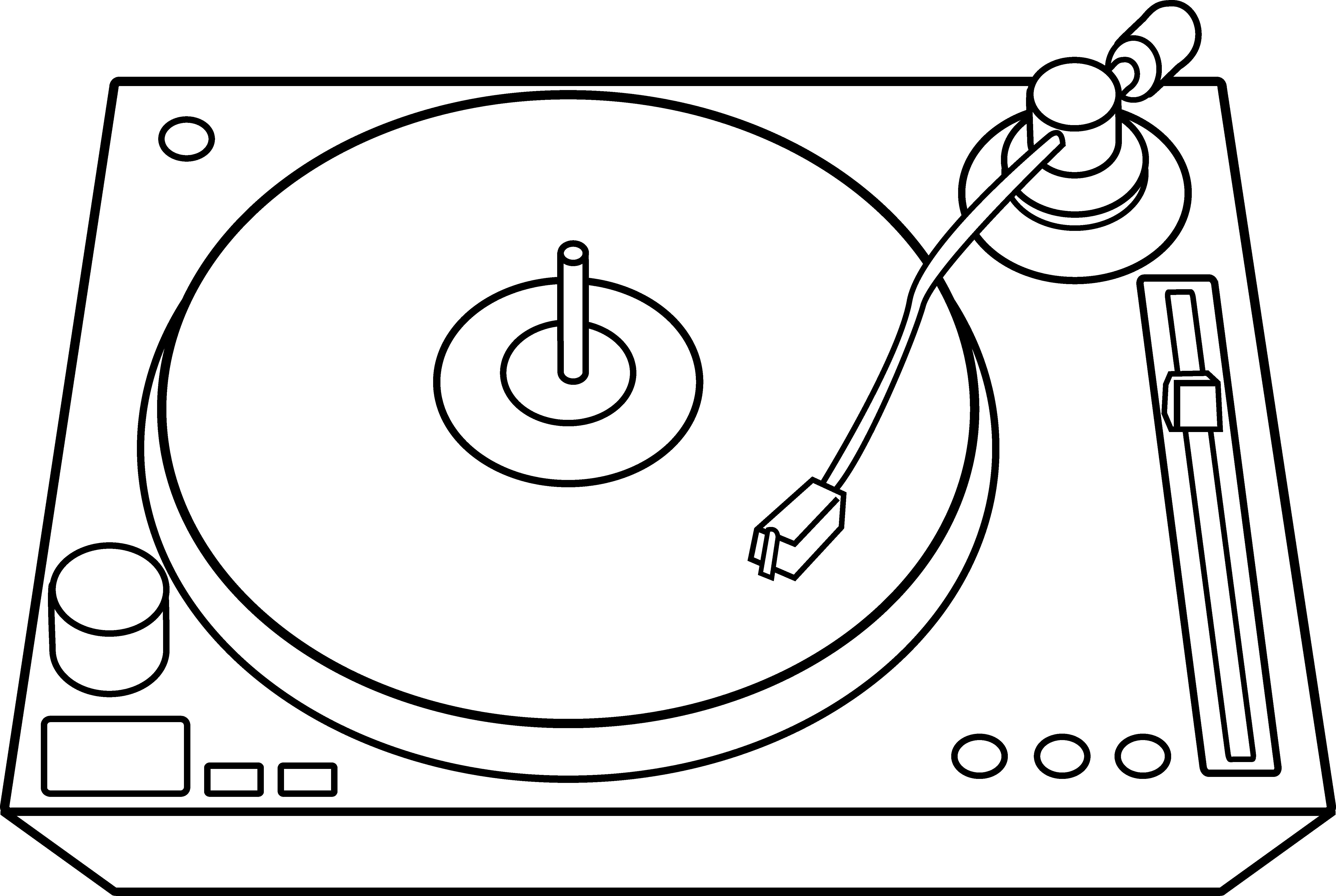 6021x4040 Dj Clipart Drawing