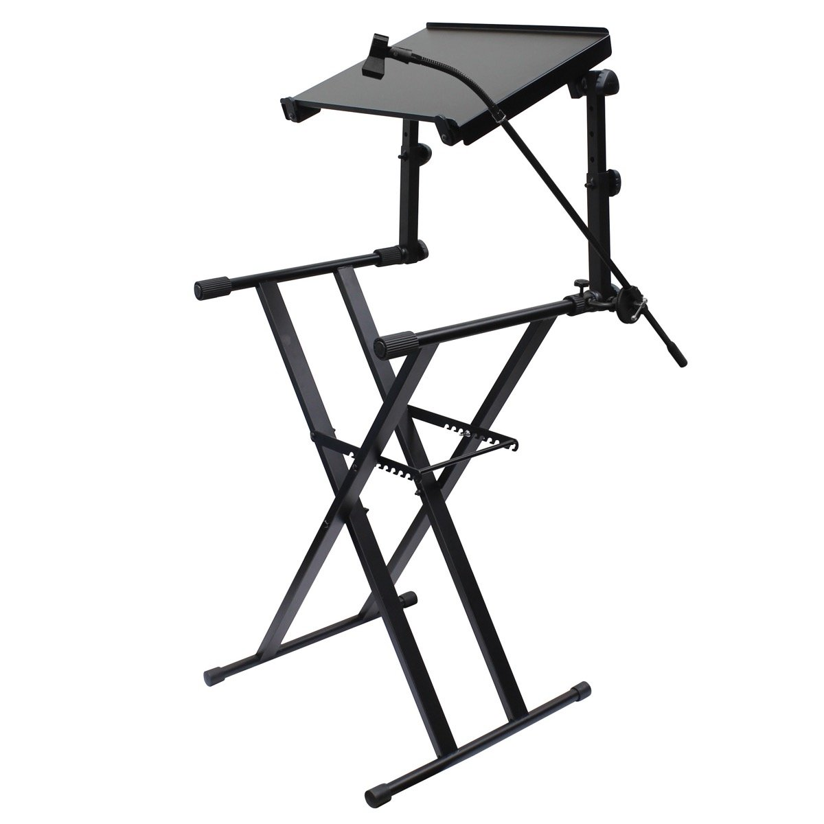 1200x1200 Odyssey Ltbxs2mtcp 2 Tier Dj X Stand Combo Pack, Black