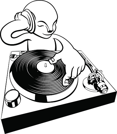 388x443 Record Player Clipart Dj Table
