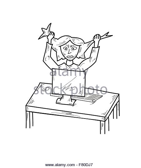 451x540 Stressed Woman Stock Vector Images
