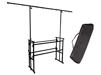 355x266 4ft Deck Stand Black Metal Mobile Dj Lighting Rig Inc Carry Bag