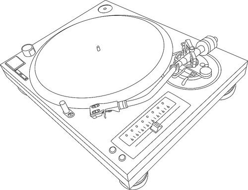 Dj Turntable Sketch
