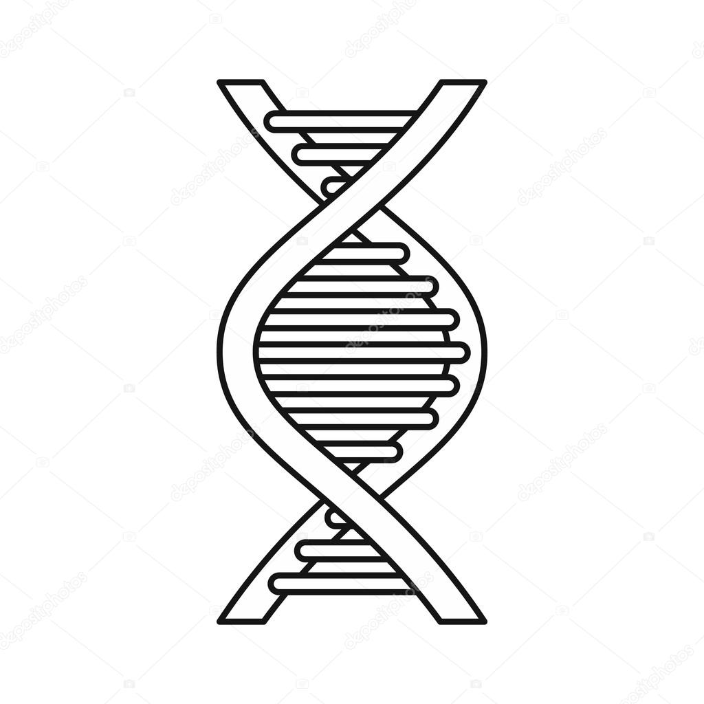 This is a graphic of Dramatic Drawing Of Dna