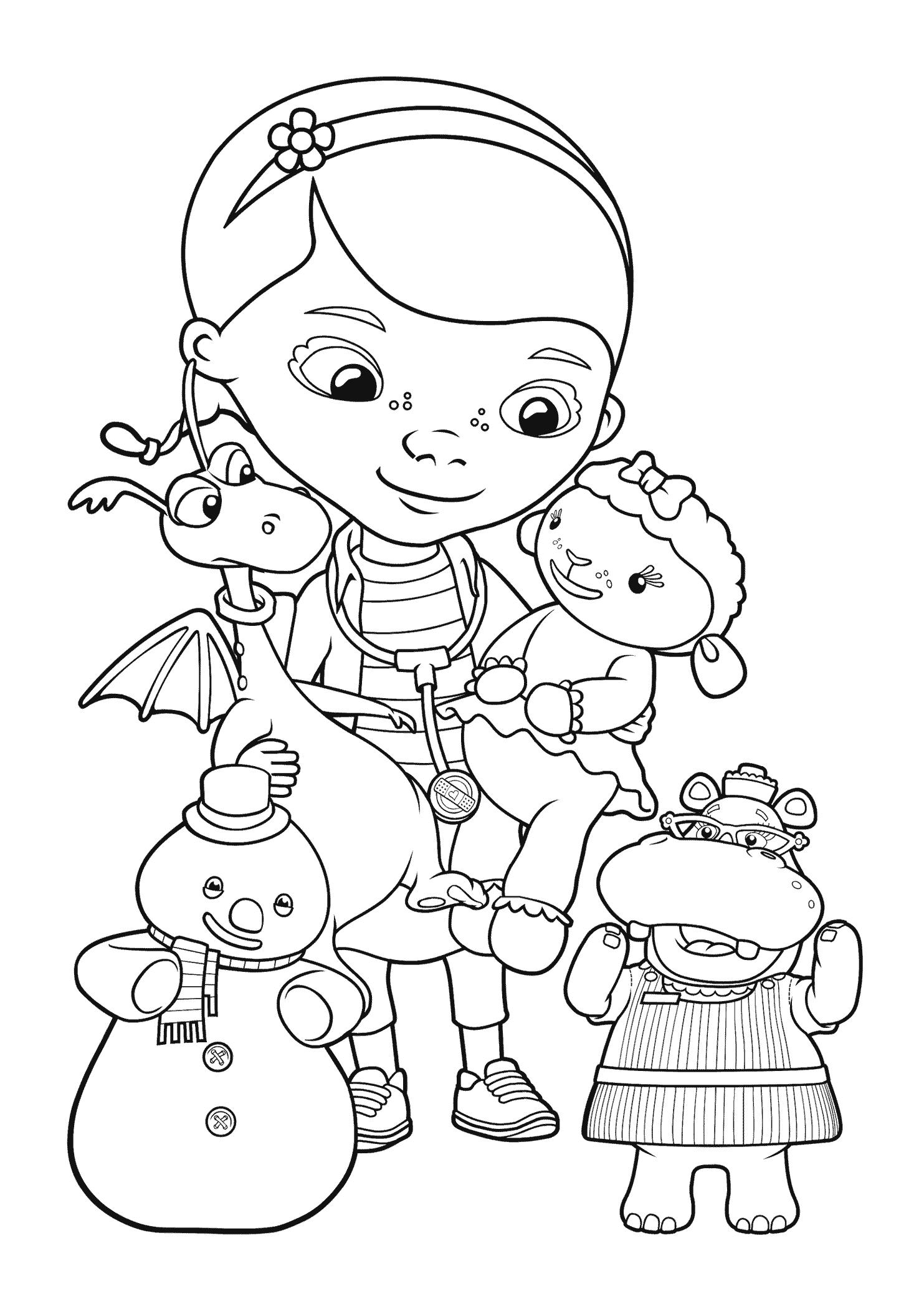 1483x2079 Doc Mcstuffins Drawing Doc Mcstuffins Coloring Pages Jacb