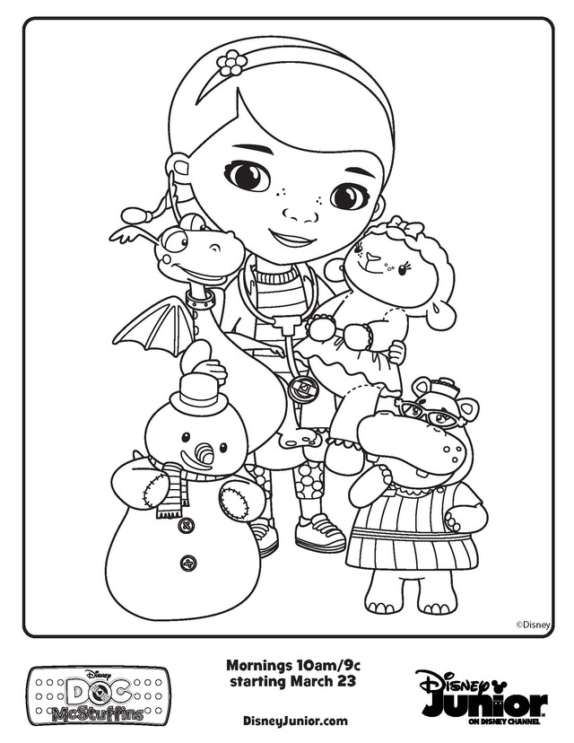640x828 Extraordinary Doc Mcstuffins Coloring Pages 63 On Coloring Print